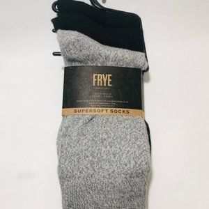 Frye Women's Supersoft 3 Pair Crew Socks